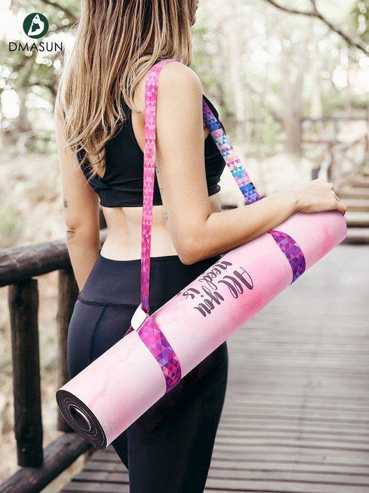 家用健身 瑜伽減脂增肌迪瑪森新品新品新品瑜伽墊捆綁帶綁帶新收納新背帶綁繩瑜伽伸展帶多用途背繩D02B2