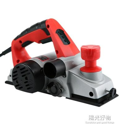 金誠泰電刨家用小型多功能手提臺式木工刨木工工具電動刨子壓刨機 220V NMS