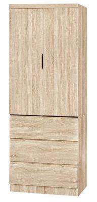 【南洋風休閒傢俱】精選時尚衣櫥 衣櫃 置物櫃 拉門櫃 造型櫃設計櫃- 原切橡木衣櫥 CY188-37