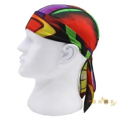 頭巾夏季運動頭巾帽男女透氣速幹吸汗騎行海盜帽戶外包頭小帽頭盔內襯   全館免運
