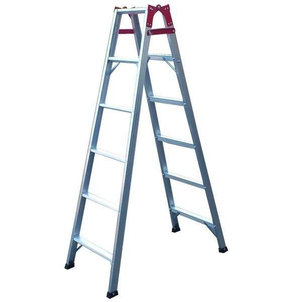 兩用梯! 6階 直馬梯 A字梯171公分 一字梯 鋁梯 梯子 馬椅梯 關節梯 安全荷重80kg 台灣原廠 6尺