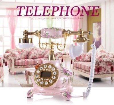 【德興生活館】旋轉撥號轉盤仿古電話機歐式電話機復古電話機時尚創意電話機 歐式電話機復古電話機