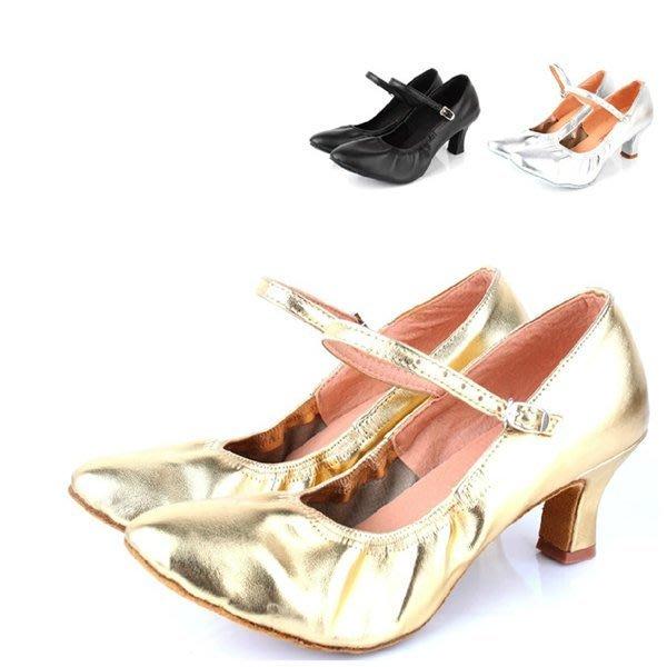 5Cgo【鴿樓】會員有優惠 26178552319  鬆緊口摩登舞鞋女交誼舞鞋女士交誼舞中跟包頭舞鞋拉丁舞鞋