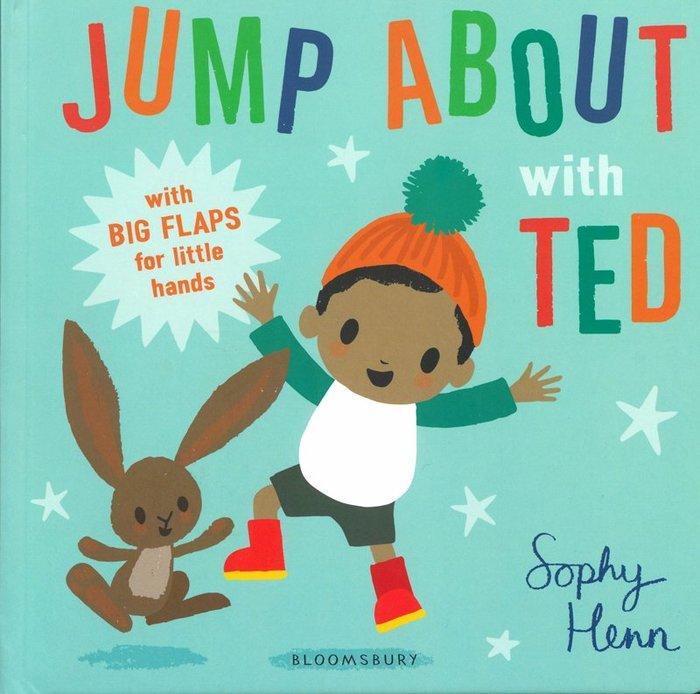 *小貝比的家*JUMP ABOUT WITH TED/硬頁/0~2歲/翻翻書