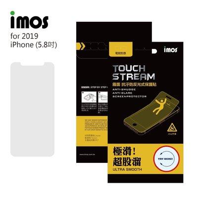 泳 IMOS iPhone11 5.8吋(2018/2019) 正面保護貼 Touch Stream霧面保護貼 塑膠製品