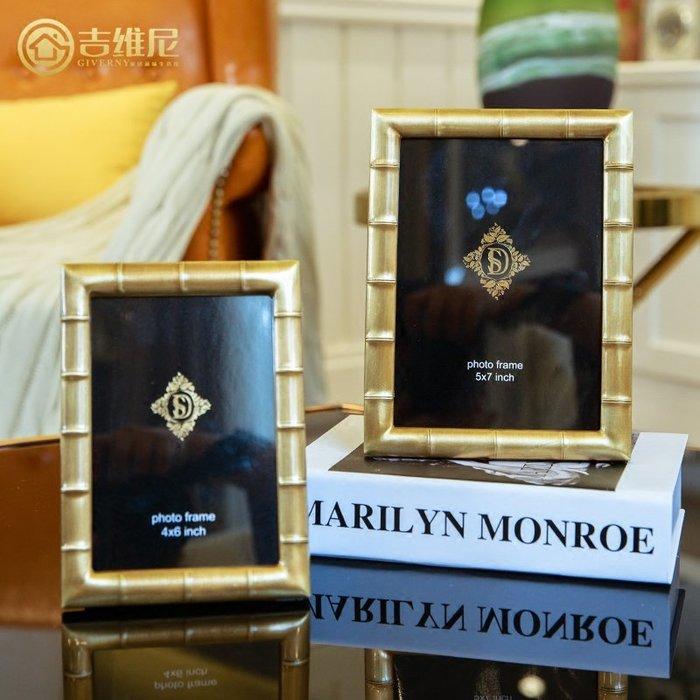 〖洋碼頭〗美式相框擺臺現代簡約6寸照片框創意7寸相片框樣板房客廳書房擺件 jwn377