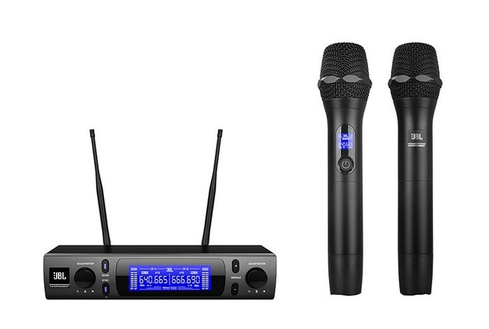 【昌明視聽】美國 JBL VM300 雙通道UHF 200可選頻道 自動掃頻 附二支無線麥克風 來電(店)可議價