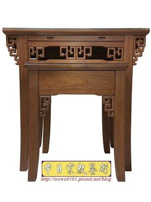 古典簍空雕花神桌 高級柚木佛桌 3尺6公媽桌 祖先桌樣式
