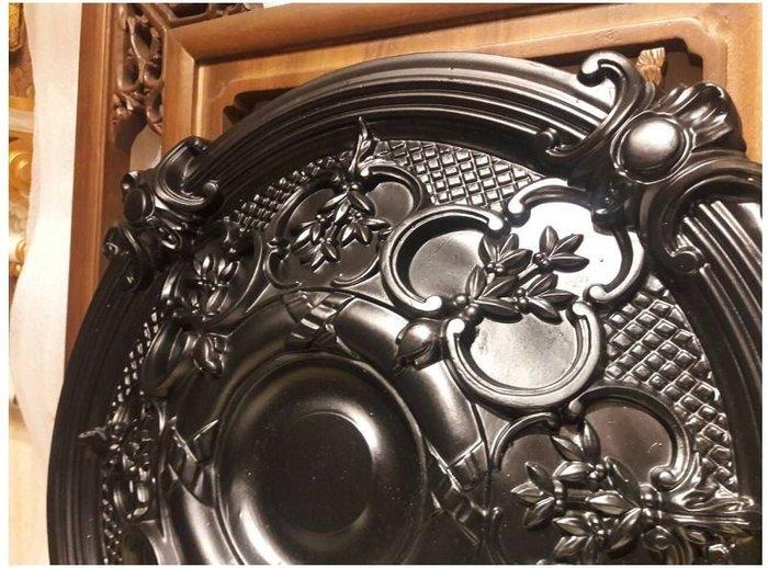 體浮雕PU燈座 歐洲宮廷藝術精品- - 維多利亞 巴洛克 立體浮雕PU燈座PO-32344 -0黑色@$1399特價出