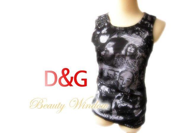 *Beauty*D&G圖騰網紗雙層背心 JA