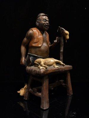 ㊣姥姥的寶藏㊣佛山拍賣會回流藏品 老件精致紫砂挂釉 掛羊頭賣狗肉 名家款