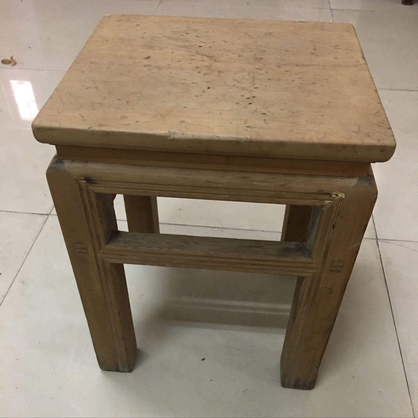二手檜木四方椅