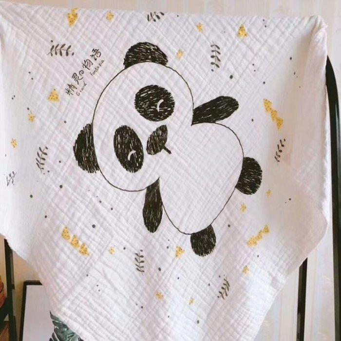 寶寶八層紗布抱被六層新生兒襁褓巾蓋毯
