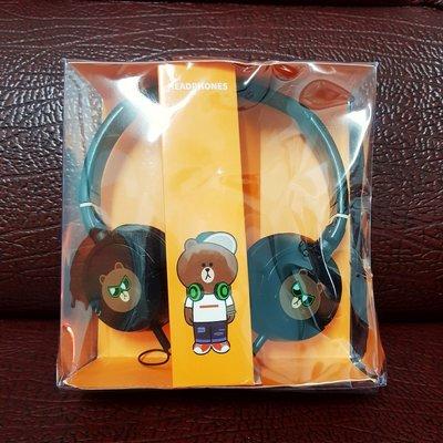 Line Pay 耳機 熊大耳機 頭戴式耳機 耳罩式耳機 Line Friends 單孔 有線 Line熊大耳機