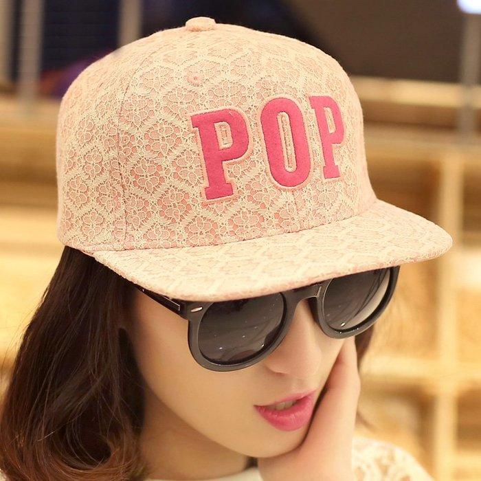 貴倫美 嘻哈帽子女夏天韓版潮蕾絲平沿帽 防曬鴨舌帽子遮陽棒球帽夏季外出必備遮陽帽