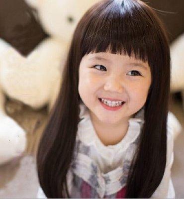 水媚兒假髮E-7♥新款兒童假髮 小學生長直髮 齊瀏海 ♥ 現貨或預購 團購批發