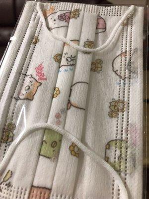 台灣現貨 特殊收藏兒童平面口罩 角落生物角落夥伴8片裝 (內含8片角落生物角落夥伴)
