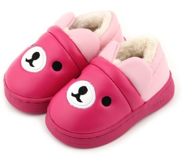 秋冬 純棉 防滑 加厚 寶寶學步鞋軟底嬰兒鞋 學步鞋 純棉布鞋 保暖鞋 小熊造型
