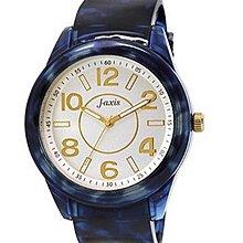 日本正版 J-AXIS 玳瑁風 女用 手錶 腕錶 BG1074-BL 日本代購