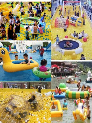 水上玩具兒童水上充氣玩具百萬海洋球池香蕉船風火輪蹺蹺板蹦床陀螺鴨子船