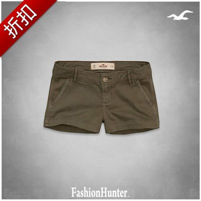 折扣【FH.cc】HCO 熱褲 Hollister Low Rise Short-Shorts 刺繡海鷗 A&F