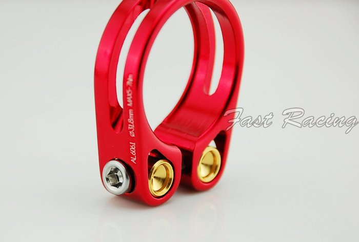 ☆【跑的快】☆ 台灣精品  KREX  紅色 鋁合金 輕量化 座管束 坐管束 31.8 & 34.9