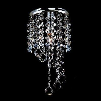 埃及奧地利金屬鍍金/鍍鉻圓球彩珠水晶燈E14-1燈(水藍色)TA95323