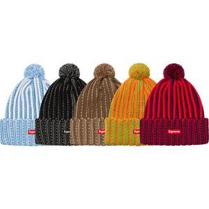 【美國鞋校】預購 SUPREME FW19 Contrast Stripe Beanie 毛帽
