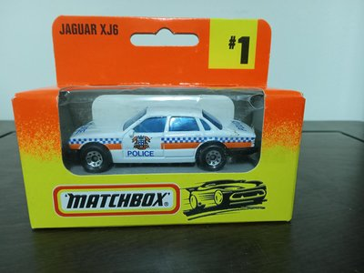 (少見小車模)火柴盒小汽車 Matchbox  Jaguar XJ6 Police Car /警車(A391)