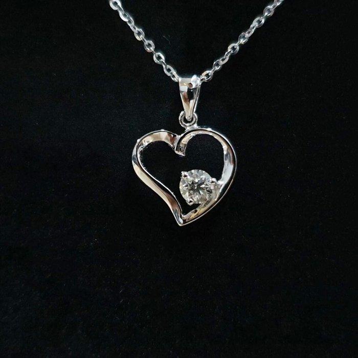 送禮禮物禮品 全新品 天然鑽石項鍊 主石30分8心8箭 18K金墜台 墜1.9x1.3cm 大眾當舖 編號5959