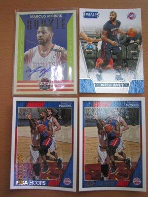 網拍讀賣~Marcus Morris~塞爾提克隊球星~RC新人PAST簽名卡~貼紙簽~HOOPS~普特卡~共4張~300
