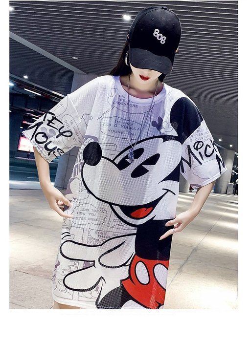 日韓服飾*米老鼠長版T恤/罩衫*韓國連線*現貨*休閒甜美款*原價400-特價299**3s潮流屋~2件免運