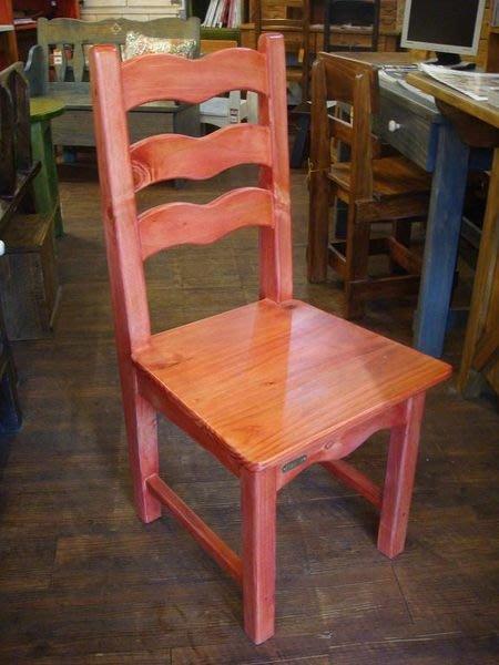 原木工坊~  原木家具訂做免訂作費   鄉村風坡浪椅