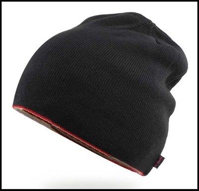 【型男衣櫥】冬季帽子男士大號黑色針織帽歐美潮人雙面毛線帽套頭帽女無邊冷帽