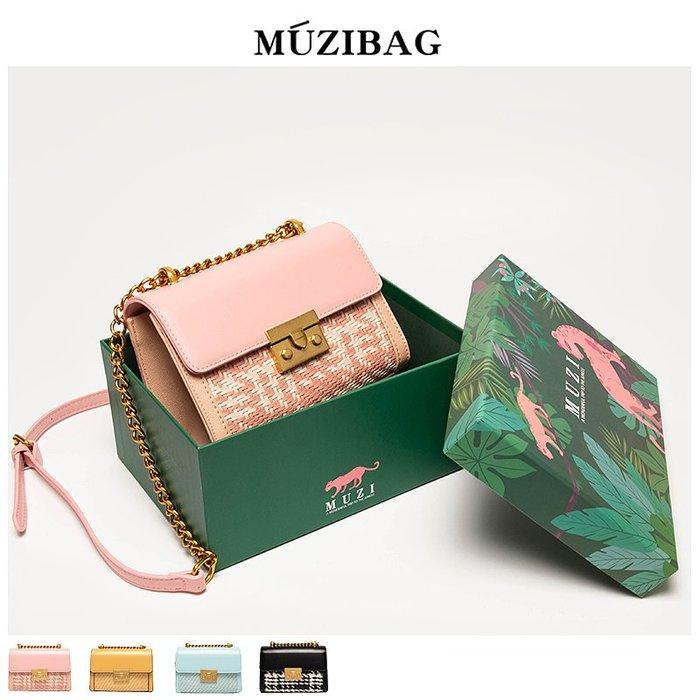 MUZI定制包包女包新款2019時尚斜挎百搭ins法國小眾洋氣流行小包