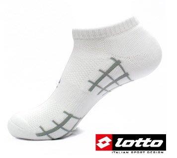 LOTTO 彈力機能氣墊踝襪 運動襪 (白-LT9CMW8119 黑-LT9CMW8110)   [迦勒=]