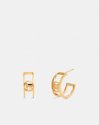coach Horse And Carriage Huggie Earrings