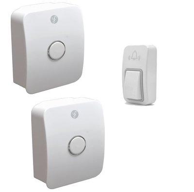 [三永] 防水 無線門鈴 無線電鈴 室外機免電池 一對二 看護鈴 求救鈴 可調音量升级版