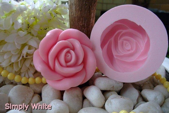 《魔法泡泡Simplywhite》手工皂模/矽膠模/土司模/香皂模/吐司模- P10003 大玫瑰花