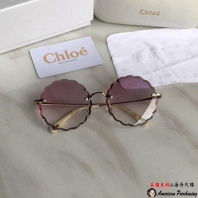 美國大媽代購 CHLOE 克羅伊 CE142S系列 奢華時尚 前衛漸層紅色太陽眼鏡  Outlet出清