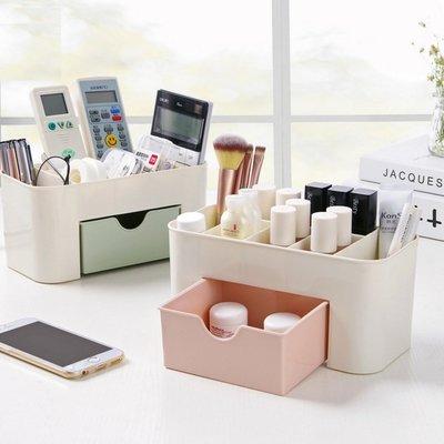 抽屜式桌面收納盒 化妝品收納盒 化妝包 居家辦公室 抽屜隔層分類【RS587】