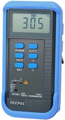 TECPEL泰菱 》 DTM 305A 單輸入數位溫度計+ K型熱電藕 溫度計 k type DTM-305A