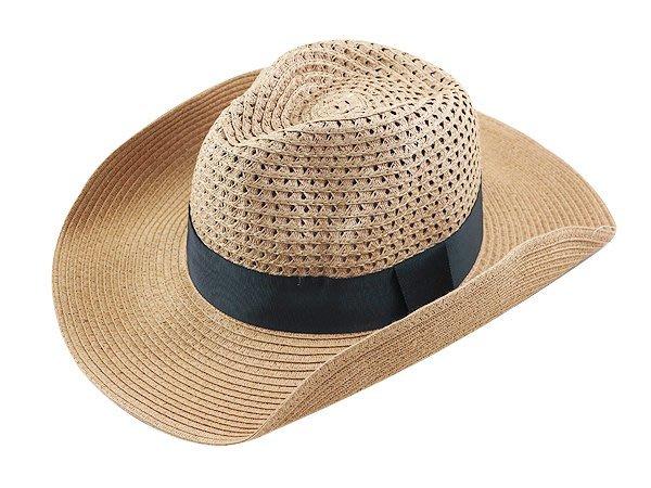 金城武同款通用型限定帽子/大頭圍 60cm / 流行(咖啡色帶4cm)寬邊(10cm)加大帽沿軟藤紳士帽-咖啡色