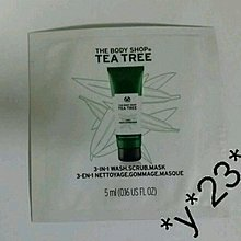 The Body Shop Tea Tree 3-In-1 Wash.Scrub.Mask 茶樹3合1潔淨磨砂面膜