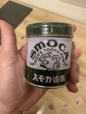 日本超好用老牌 SMOCA 清潔牙垢 美白 牙粉155g 剩綠色