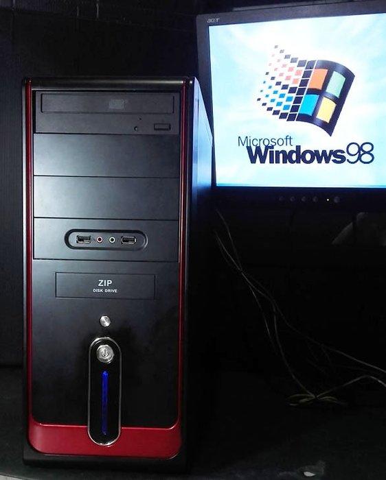 【窮人電腦】跑Win98系統!自組技嘉工業主機出清!雙北桃園可親送!外縣可寄!