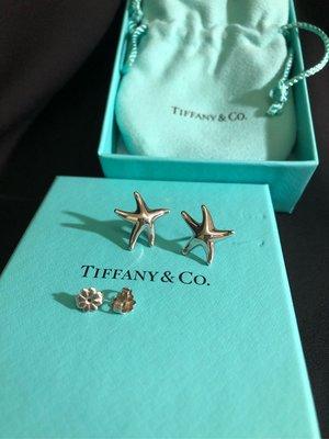 真品 Tiffany starfish 小海星耳環可專櫃面交