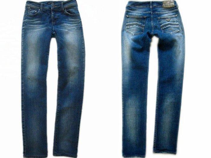 *Beauty*ARMANI JEANS藍色窄版合身牛仔長褲