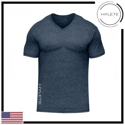 ►瘋狂金剛◄海軍藍 HYLETE vertical II tri-blend v-neck tee 柔軟 透氣 短袖T恤
