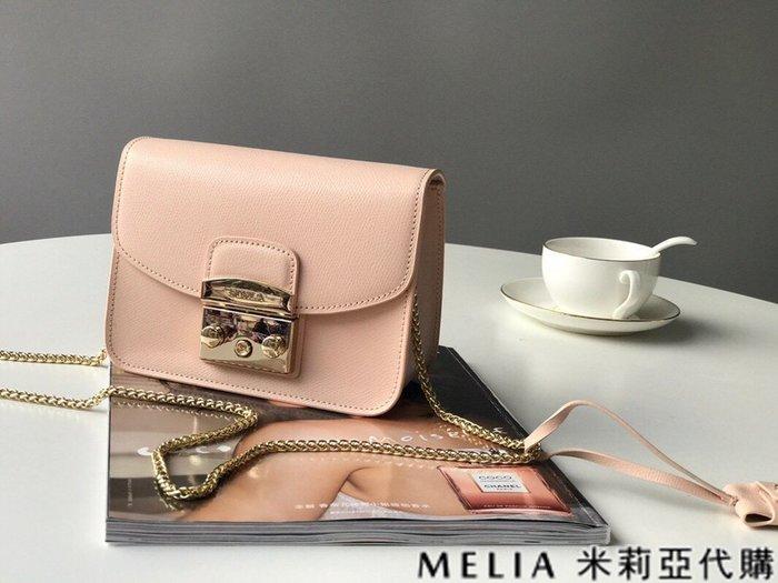 Melia 米莉亞代購 商城特價 數量有限 每日更新 FURLA 經典小方 淑女包 單肩斜背包 素色來襲 裸粉色